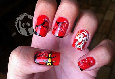 elegant chinese nail art designs ideas  fabulous