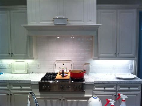 4x8 White Subway Tile Backsplash 4x8 beveled edge white subway tile backsplash