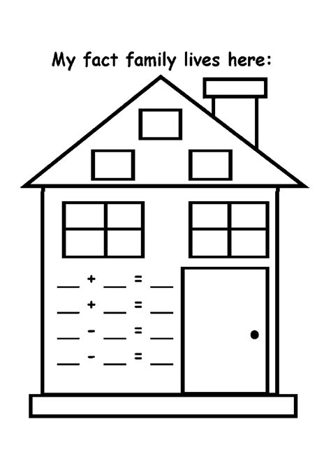 easy fact families worksheets  activity shelter