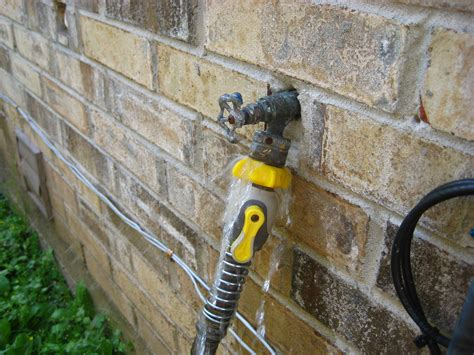outdoor faucet leaking inside wall 301 moved permanently