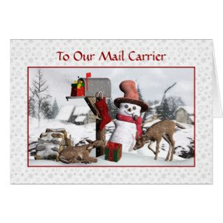 thanks mail carrier warming up mail carrier cards zazzle