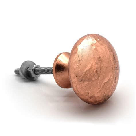 copper drawer copper hammered cupboard door knobs by pushka home