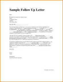 Follow Up Letter After Resume Sle by What Is A Follow Up Letter 36 Images Follow Up Letter