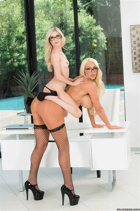 Blonde With Glasses Likes Lesbian Sex Adventures Photos