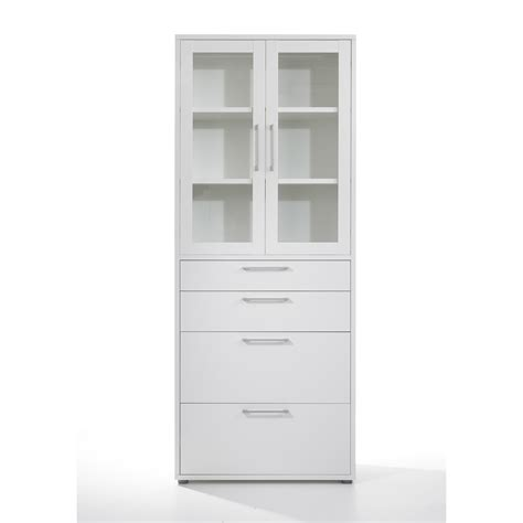 white bookcase with drawers furniture glass door small and lockable book cabinet with