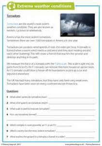 Extreme Weather Worksheet