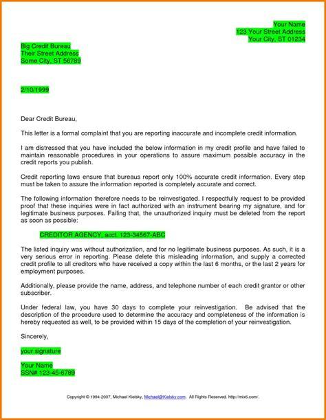 credit dispute letter template pdf wonderfull credit bureau dispute letter letter format writing