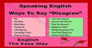 Easy Cover Letters Ways To Say Quot Disagree Quot Speaking English English The