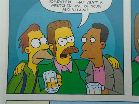 Ned Flanders With Lenny Leonard And Carl Carlson.