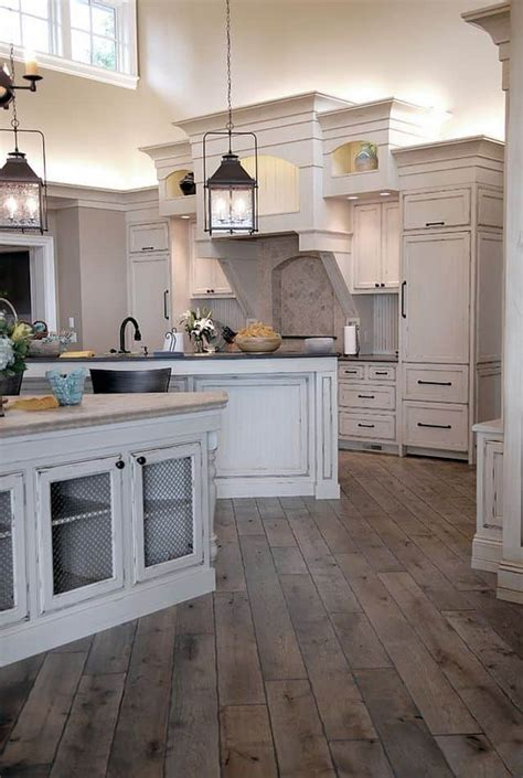 white rustic kitchen cabinets rustic kitchens that draw inspiration magazine 1457