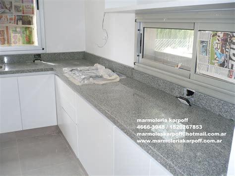 mesada en granito gris mara mesada  alacena cocina