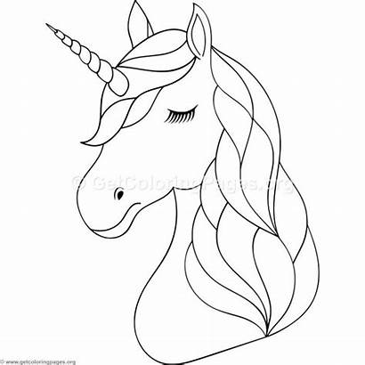 Unicorn Coloring Pages Head Animal Printables