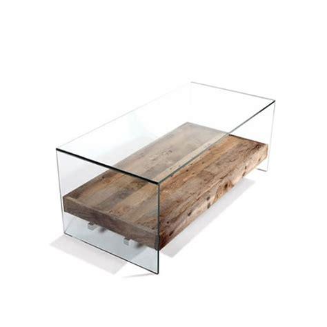 table basse verre bois table basse de salon en verre et bois table basse