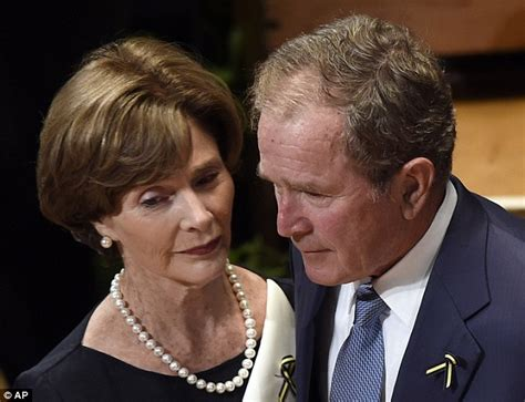 George W Bush Shows Off Suspiciously Darker Hair At Dallas