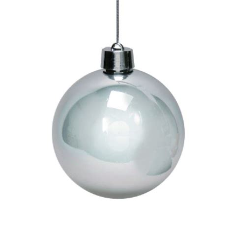 outdoor large christmas bauble x 2 3 colours 15cm in