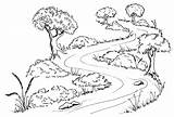 River Trees Flowing Wetlands Waterways Planting Drawing Winding Plants Along Banks Coloring Water Below Flow Illustration Restoring Pages Transparent Plant sketch template