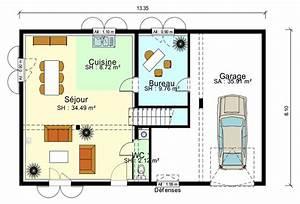 Plan Interieur Maison : plan de maison avec garage ideo energie ~ Melissatoandfro.com Idées de Décoration