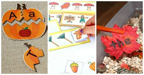 15 fall literacy and math centers for preschoolers stay 798 | 15 Fall math and literacy activities for preschoolers FB