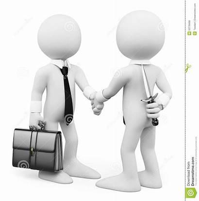 Betrayal Betray Clipart 3d Business Deal Closing