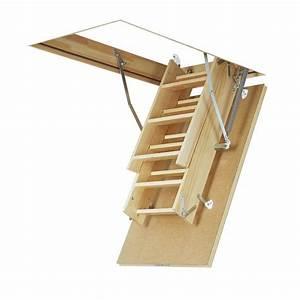 Escalier Escamotable Grenier : escalier escamotable bois ~ Melissatoandfro.com Idées de Décoration