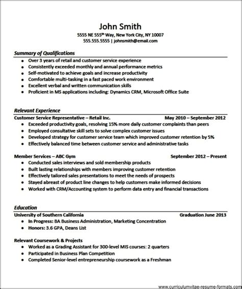 resume template  experienced professional