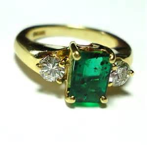 emerald engagement rings antique engagement ring emerald onewed