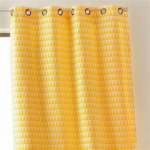 Rideau Jaune Et Blanc : rideau tamisant 135 x h260 cm backgammon jaune rideau tamisant eminza ~ Teatrodelosmanantiales.com Idées de Décoration