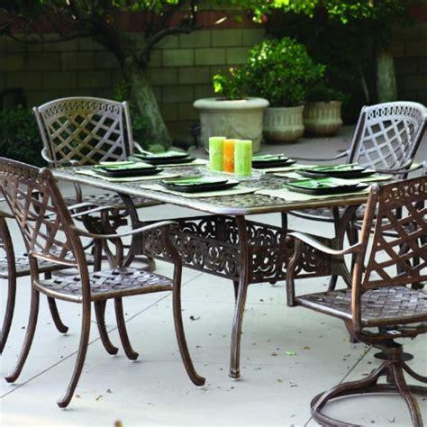 darlee sedona 6 person cast aluminum patio dining set