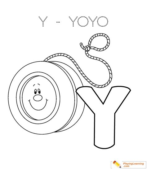 alphabet easy coloring    yoyo  alphabet easy