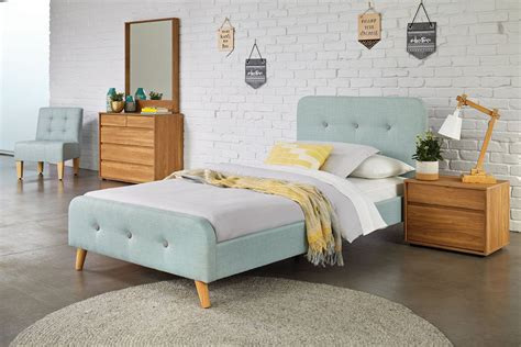 calypso king single bed frame  nero furniture harvey