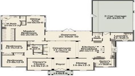 one floor plans one floor house plans with open concept best one