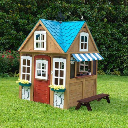 backyard cottage playhouse kidkraft backyard wooden seaside cottage outdoor children
