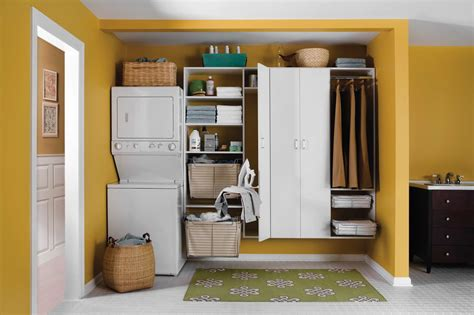 Basket Decor Ideas by 20 Laundry Room Cabinets To Try In Your Home Keribrownhomes