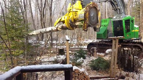 Logging Equipment in Action - Very near the house - YouTube