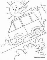 Coloring Slope Steep Submarine Transportation Preschool Bullock Drawing Sketch Popular sketch template