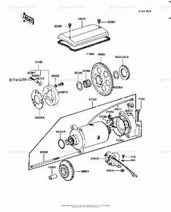 Kawasaki Motorcycle 1981 Oem Parts Diagram For Starter
