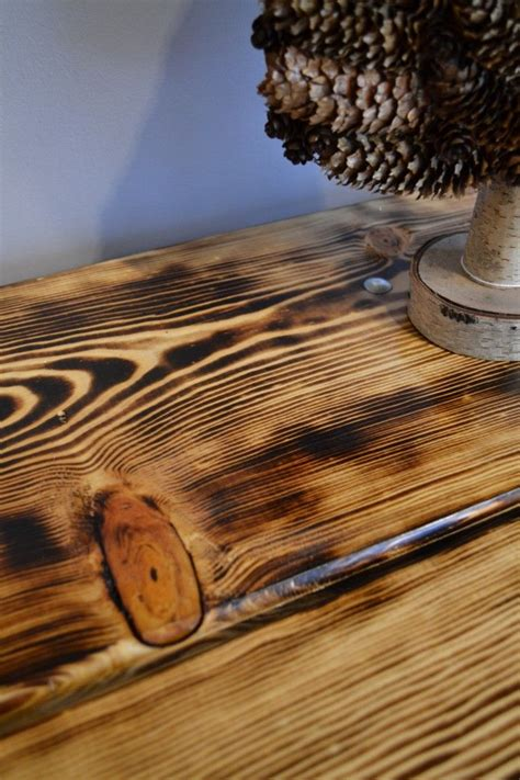 burnt wood table burn   rustic pine table kitchen wood projects wood furniture