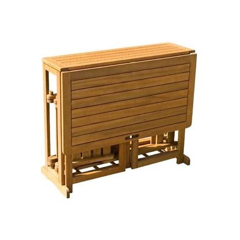 table salon de jardin pliante ensemble jardin bois