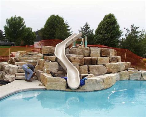pool slides for inground inground pools with waterslides www pixshark com