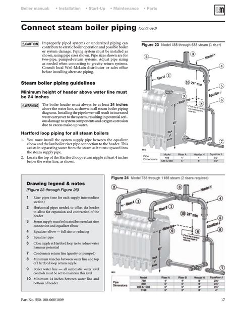Connect Steam Boiler Piping Weil Mclain User Manual