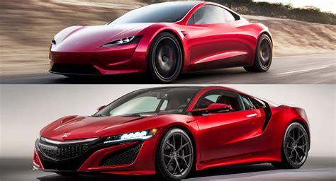 car design student thinks tesla copied acura s nsx what