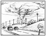 Tornado Disaster Natural Drawing Cartoon Realistic Preparing Season Sketch Illustration Getdrawings sketch template