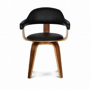 Chaise Bois Design : chaise design simili cuir noire et bois massif walnut pojet site fran ais ~ Teatrodelosmanantiales.com Idées de Décoration