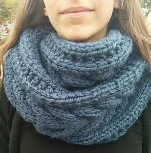 Ravelry: Cable Knit Infinity Scarf pattern by Stephanie Miller