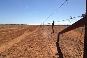 Drought-ravaged paddock near Stonehenge in outback Qld ...