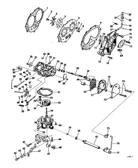 20 Hp Johnson Outboard Diagram by Johnson Carburetor Parts For 1968 20hp Fd 22a