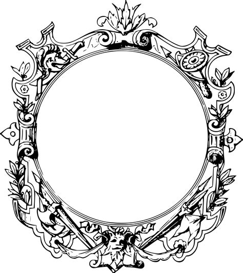 onlinelabels clip art ornate frame