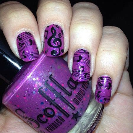 amazing  notes nail art designs ideas trends