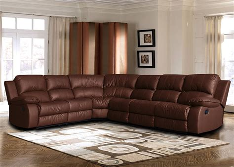 Big Corner Sofa by Large Leather Reclining Corner Sectional Sofa For