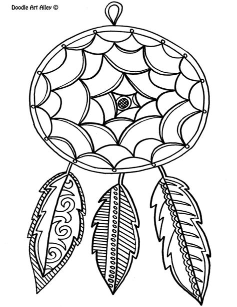 dreamcatcher coloring pages coloring home